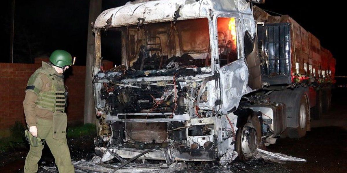 Ataque a camiones en Collipulli: detienen a sospechoso tras enfrentamiento