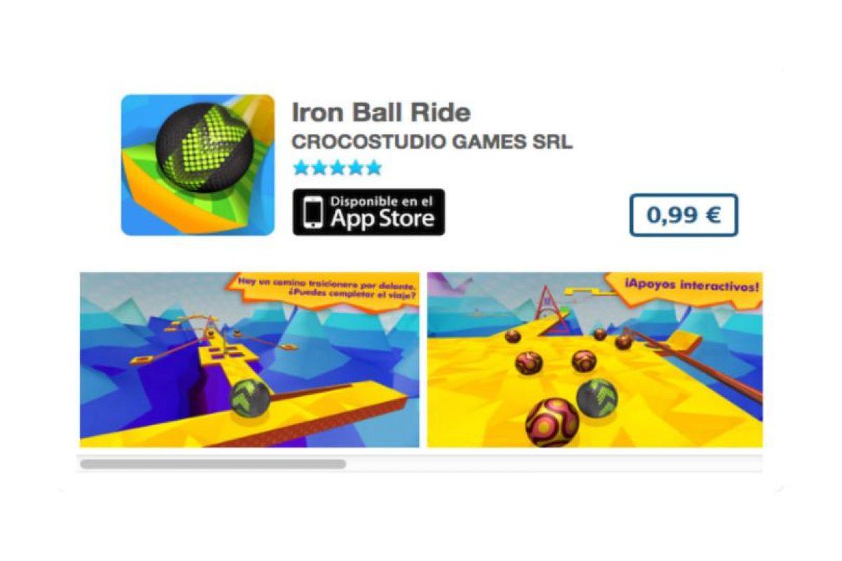 Iron Ball Ride, de Croco Studio, es un juego donde deben mantener una esfera dentro de los extraños laberintos. Precio un dólar Foto:iTunes. Imagen Por: