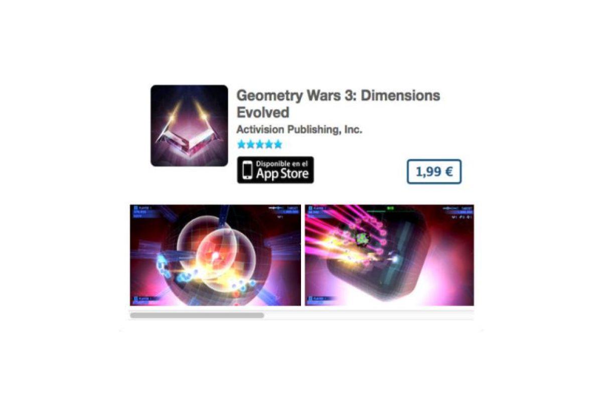 Geometry Wars 3: Dimensions Evolved es un ingenioso puzzle en 3D con gráficas impresionantes Foto:De Activision Publishing, Inc.. Imagen Por:
