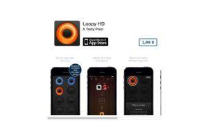 """Loopy HD permite grabar un """"loop"""" repetición de sonido para poder mezclarla y hacer música. Precio 3 dólares Foto:De A Tasty Pixel. Imagen Por:"""
