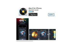 djay 2 for iPhone es el mezclador idoneo para cualquier DJ. Precio un dólar Foto:algoriddim GmbH. Imagen Por: