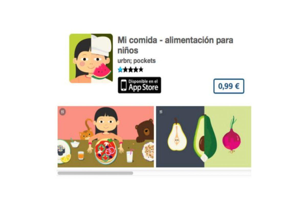 Mi comida – alimentación para niños será útil para entender a los pequeños y poder nutrirlos mejor. Precio 1 dólar Foto:De urbn; pockets. Imagen Por: