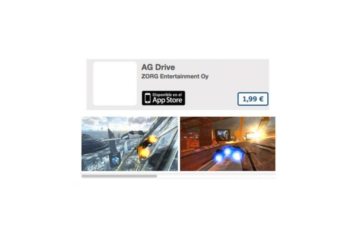 AG Drive es un juego de carreras futurista con excelentes gráficos. Precio 3 dólares Foto:De ZORG. Imagen Por: