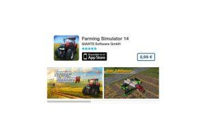 Farming Simulator 14. De GIANTS Software GmbH, es un simulador para resolver distintos retos usando un tractor de campo. Precio un dólar Foto:iTunes. Imagen Por: