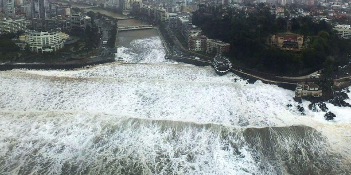 Alerta temprana preventiva por marejadas en Valparaíso y La Araucanía