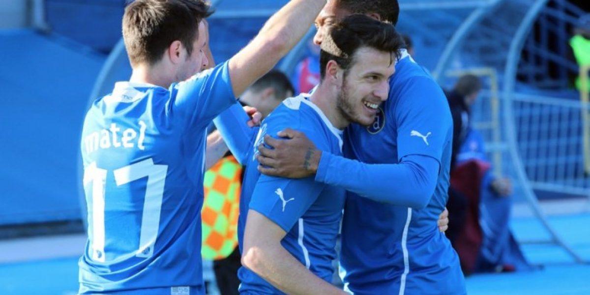 Sigue en racha: Ángelo Henríquez anotó en goleada del Dinamo Zagreb
