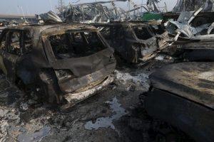 Así es como despertó la ciudad el 13 de agosto, tras la serie de explosiones en el puerto chino Foto:Getty Images. Imagen Por: