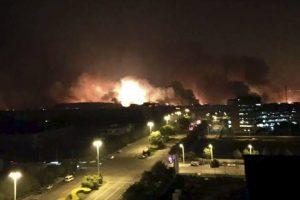 La explosión ocurrió la noche del 12 de agosto, en un municipio de China. Foto:AP. Imagen Por: