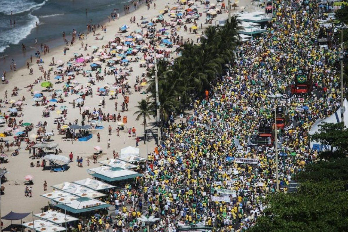 Mientras que en Rio de Janeiro se movilizaron 10 mil personas Foto:Getty Images. Imagen Por: