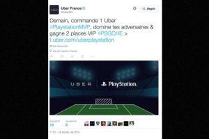 7) Juego de PlayStation en Uber. Foto:Uber. Imagen Por: