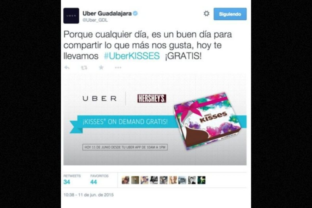 9) Chocolates gratis. Foto:Uber. Imagen Por:
