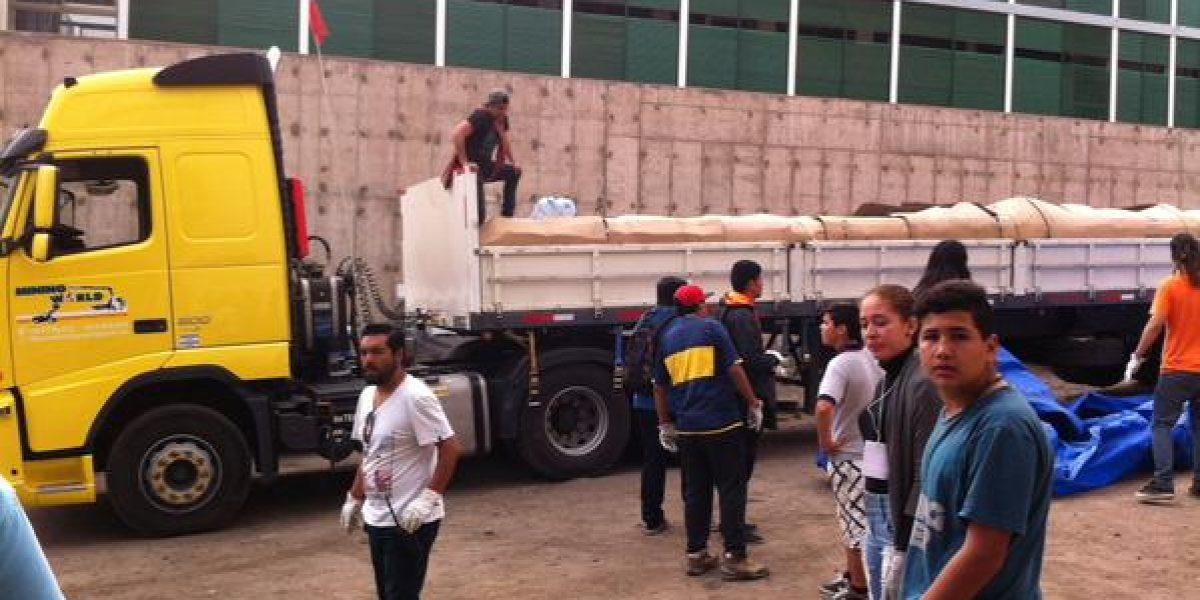 Llegaron a Tocopilla los camiones que envió Alexis para ayudar a damnificados