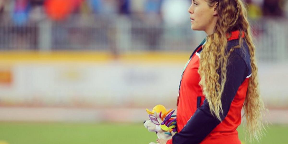 Natalia Ducó llegó a Beijing para competir en el Mundial de Atletismo