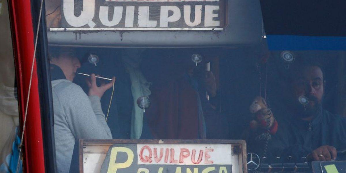 Autoridades disponen medidas por paro de micros del Gran Valparaíso