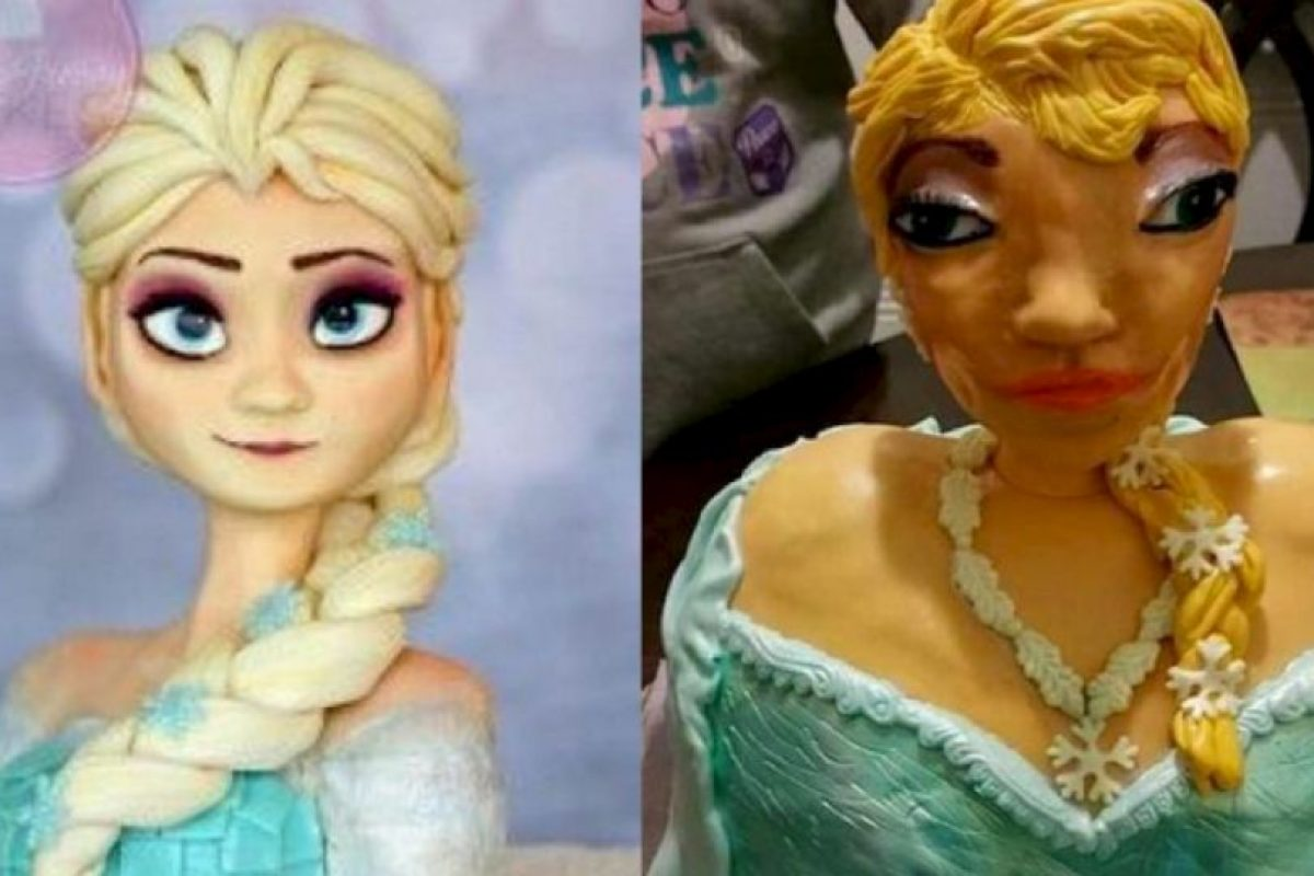 """Para celebrar a la pequeña Briana, su familia encargó un pastel (torta) inspirado en """"Elsa"""", la protagonista de la película animada """"Frozen"""". Foto:vía imgur. Imagen Por:"""
