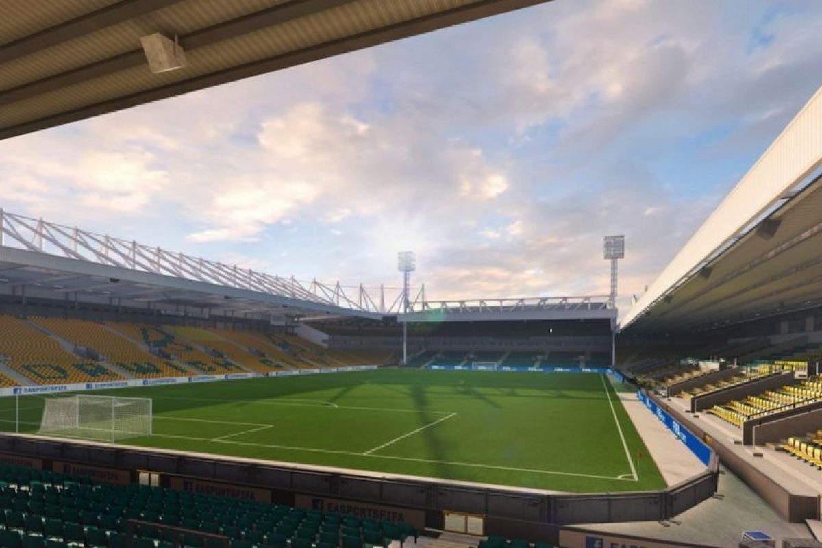 Carrow Road (Norwich City, Barclays Premier League) Foto: EA Sports. Imagen Por:
