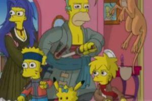 """Los Simpson"" en modo anime Foto:FOX. Imagen Por:"