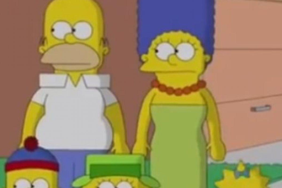 """""""Los Simpson"""" al estilo de South Park Foto:FOX. Imagen Por:"""