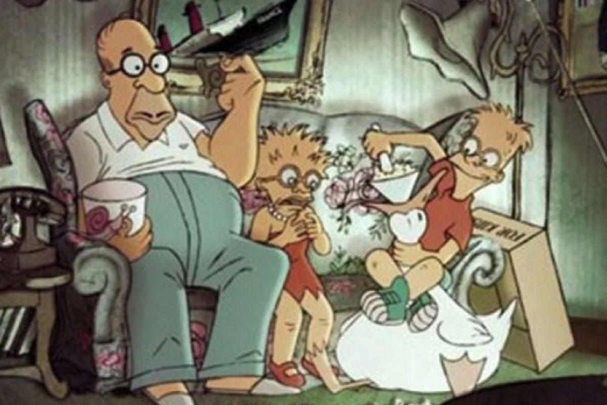 """""""Los Simpson"""" en el universo de las """"Trillizas de Belleville"""" Foto:Tumbrl. Imagen Por:"""