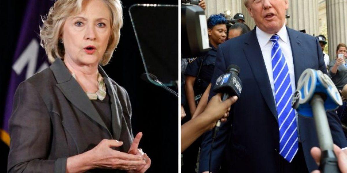 Trump reduce brecha con Clinton a solo seis puntos
