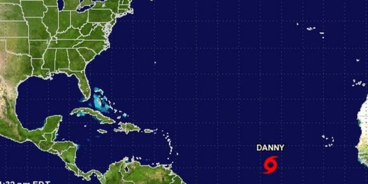Tormenta Danny se potencia y podría tornarse huracán el viernes