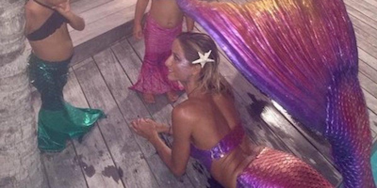Kim Kardashian sigue el ejemplo de Thalía y convierte a su hija en sirena