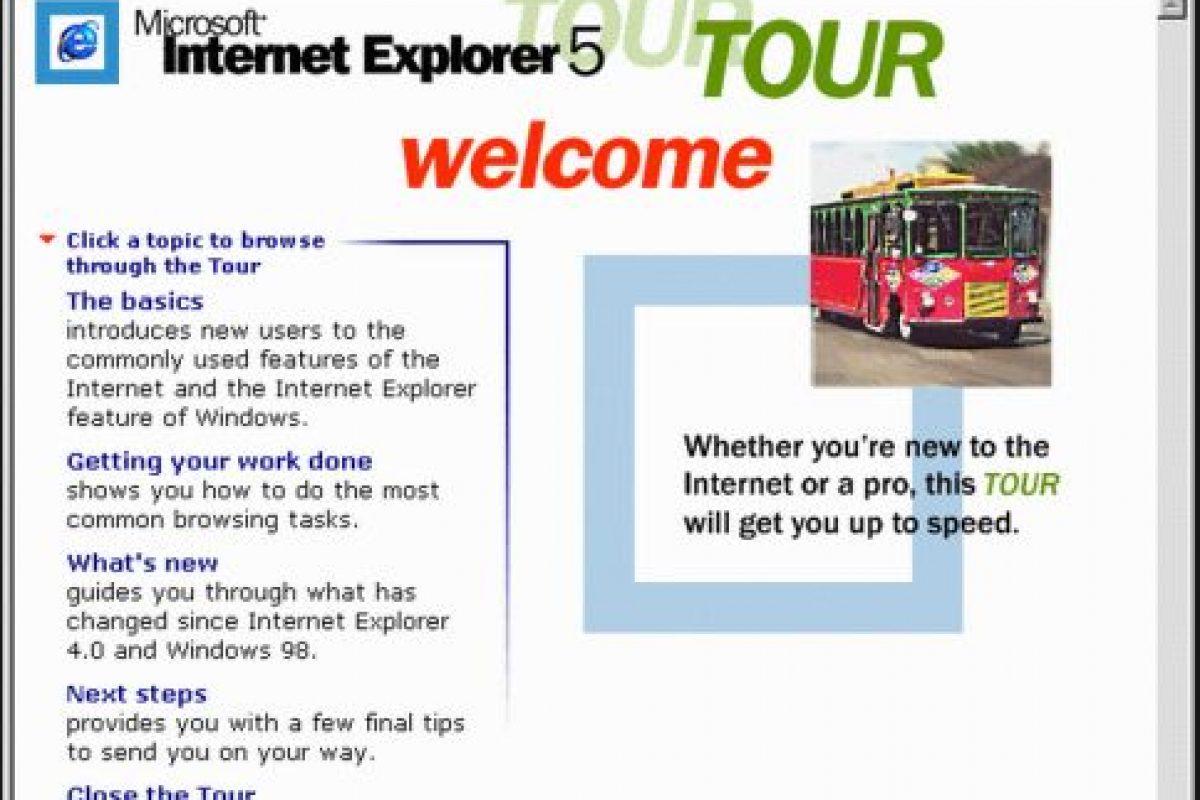 Internet Explorer 5.0 (1999) Foto:Microsoft. Imagen Por: