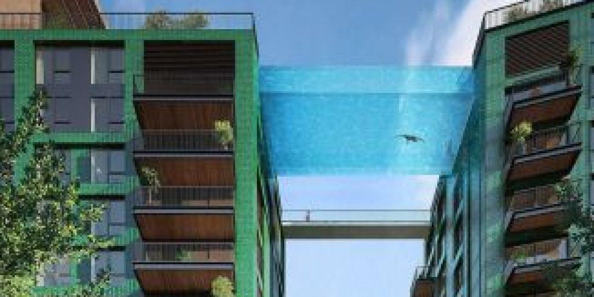 ¡Notable! Unirán dos edificios con una piscina a diez pisos de altura