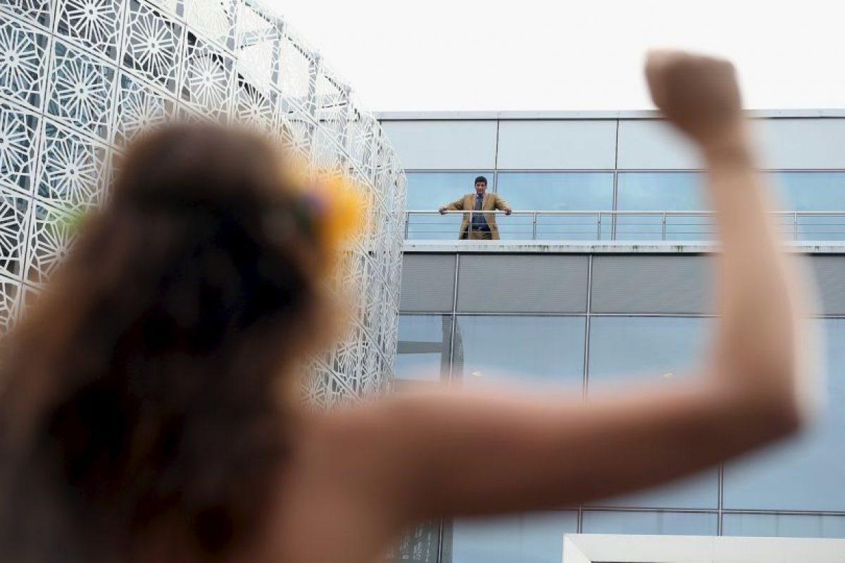 En Berlín protestaron de esta forma contra la prohibición a manejar que impusieron las autoridades a las mujeres en Arabia Saudita Foto:Getty Images. Imagen Por: