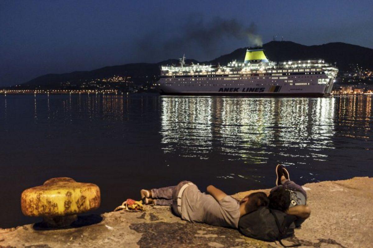 Migrantes en Grecia Foto:AFP. Imagen Por: