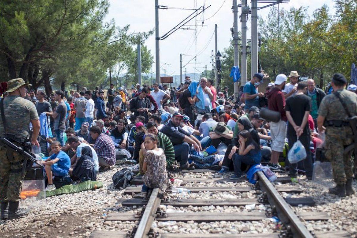 Migrantes en Macedonia. Foto:AFP. Imagen Por: