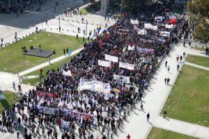 Respuesta: b) Marcha para la próxima semana. De eta forma, la fecha de la movilización quedó establecida para el 27 de agosto Foto:Agencia Uno. Imagen Por: