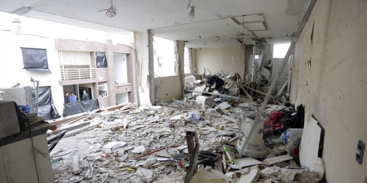 Investigan violenta explosión que destruyó departamentos en San Joaquín