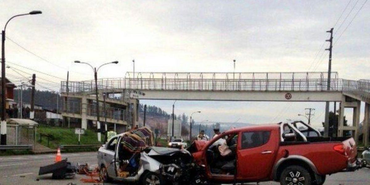 Accidente deja un muerto y dos heridos en ruta que une a Concepción y Penco
