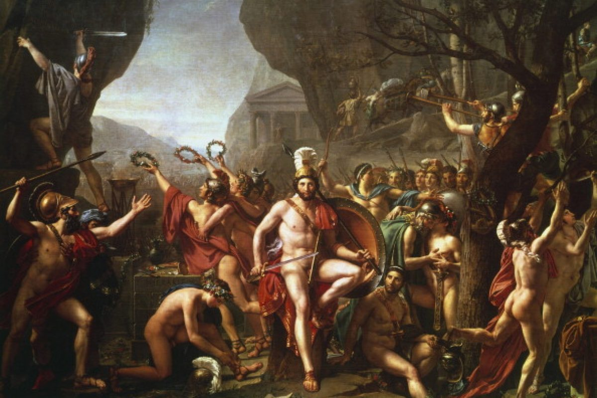 Bildergebnis für jacques louis david leonidas at thermopylae