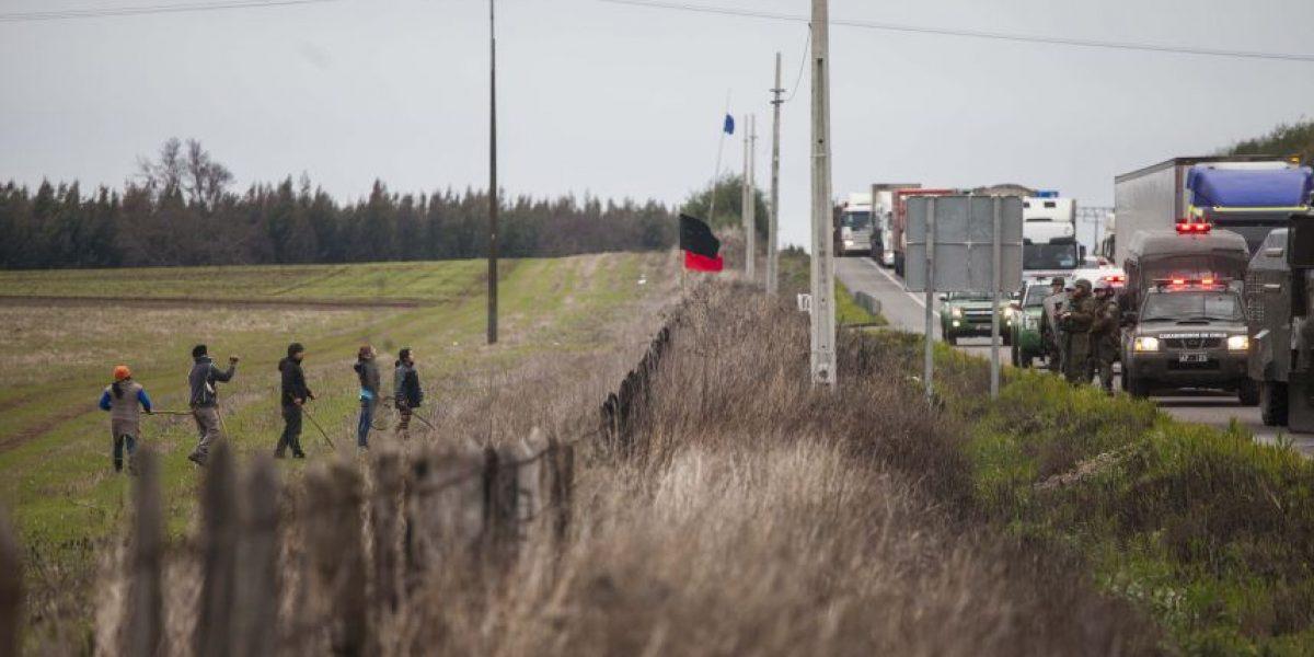 Protestas en Ercilla contra marcha de camioneros deja dos detenidos