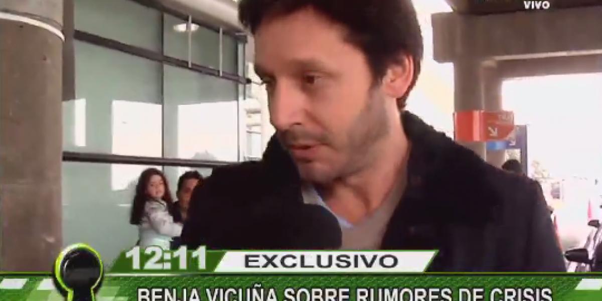 Benja Vicuña por rumores de crisis con Pampita: