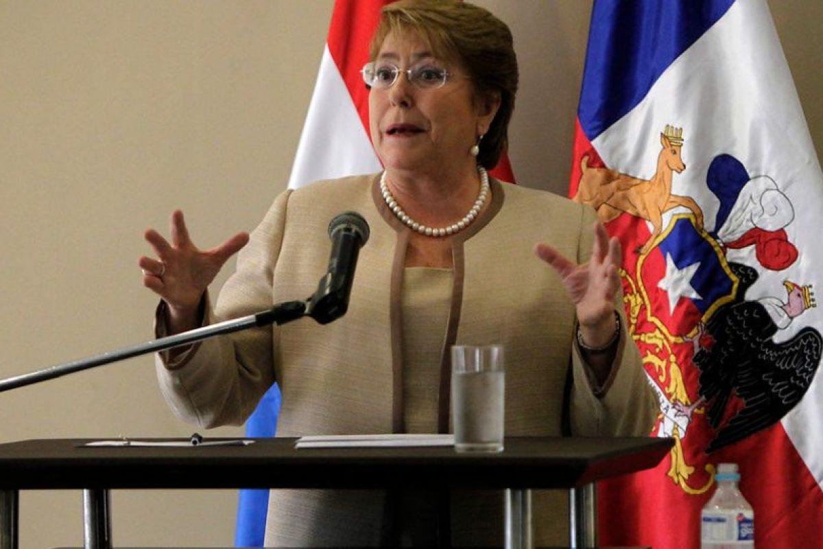 Michelle Bachelet dijo que la gente adinerada sí accede a abortos Foto:Agencia Uno. Imagen Por: