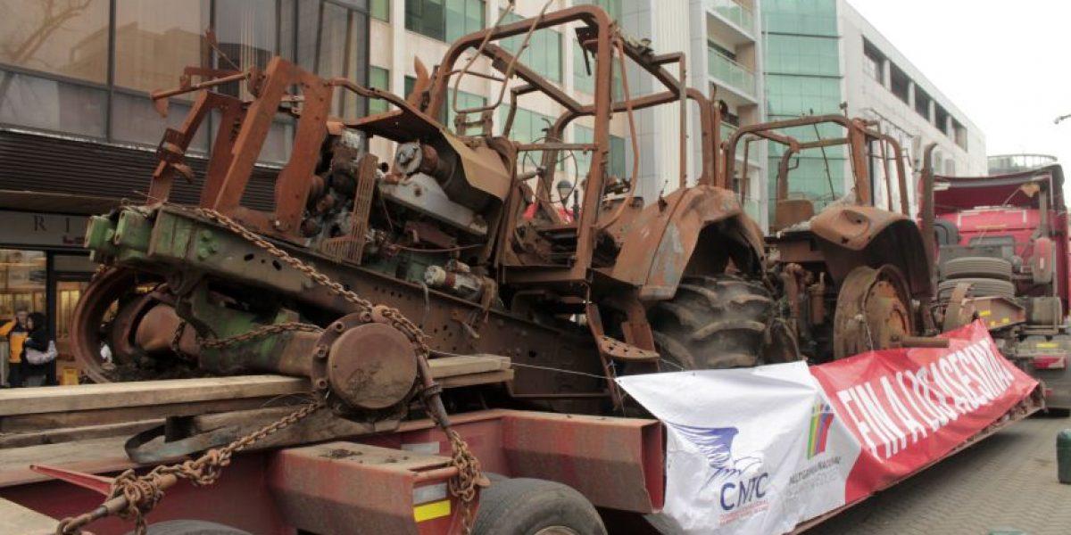 Frenan caravana de camiones en Chillán: acusan que fue por orden de las autoridades
