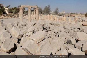 Y no quedó nada del templo en Baalshamin Foto:Estado Islámico. Imagen Por: