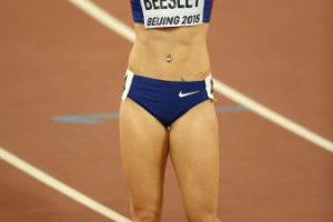 La británica de 25 años compite en los 400 metros con obstáculos Foto:Getty Images. Imagen Por: