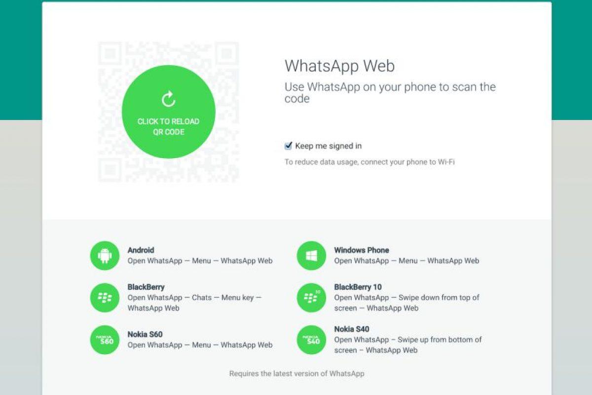Y la actualización del cliente web de la app para iPhone y Mac Foto:WhatsApp. Imagen Por: