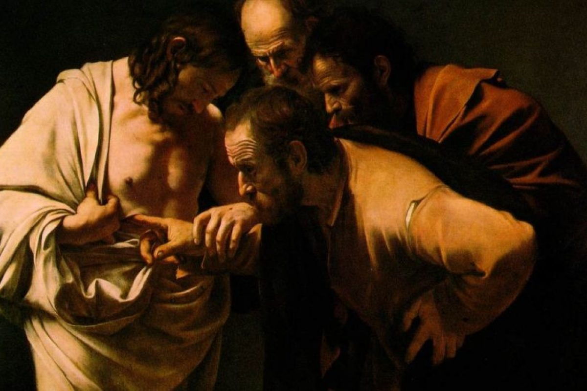 """""""La incredulidad de Santo Thomas"""" Caravaggio Foto:Wikimedia. Imagen Por:"""