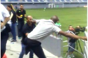 Esta pelea le costó el puesto al director técnico Foto:twitter @SanCadilla. Imagen Por: