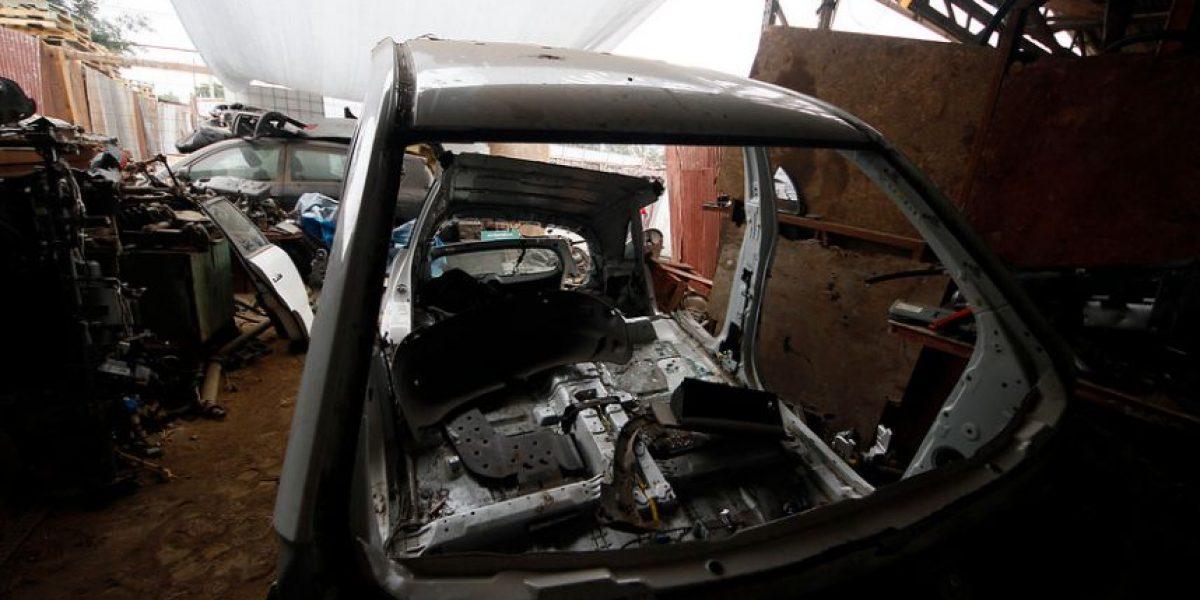 Desbaratan desarmaduría de autos robados en parcela de Puente Alto
