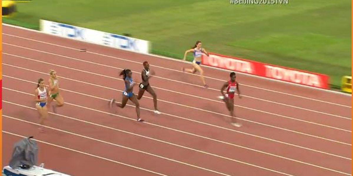 No pudo: Jiménez terminó quinta en los 200 metros y no clasificó a la semifinal