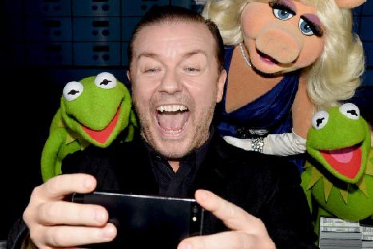 """Ricky Gervais, comediante y creador de la serie """"The Office"""". Foto:Getty Images. Imagen Por:"""
