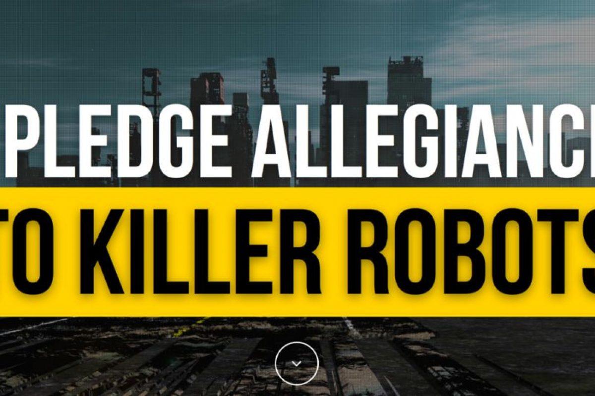 El sitio cuenta con más 100 miembros en todo el mundo Foto:IPledgeAllegianceToKillerRobots.com. Imagen Por: