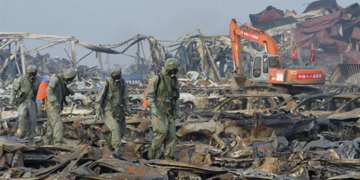 Doce detenidos y once acusados por las explosiones de Tianjin