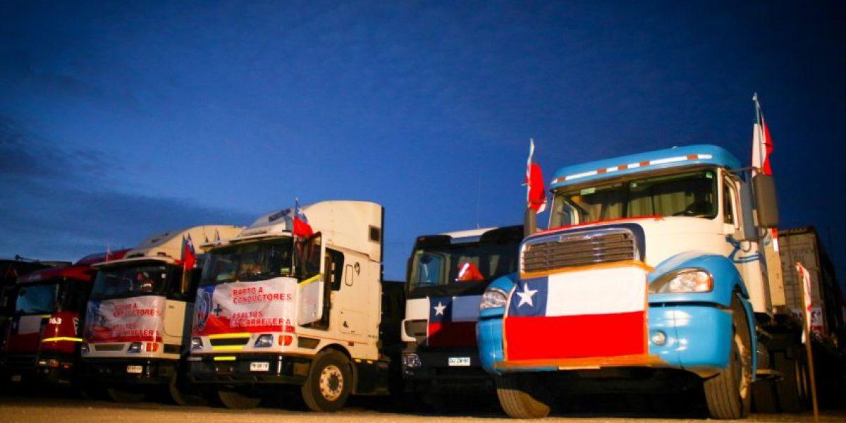 La polémica escala en Chillán de la caravana de camioneros